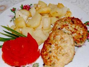 Куриные котлеты с овощами