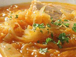 Суп щи из квашеной капусты