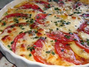 Запеченные помидоры с брынзой